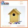 Best sale kids painting set unfinished wooden bird feeder,wholesale bird houses