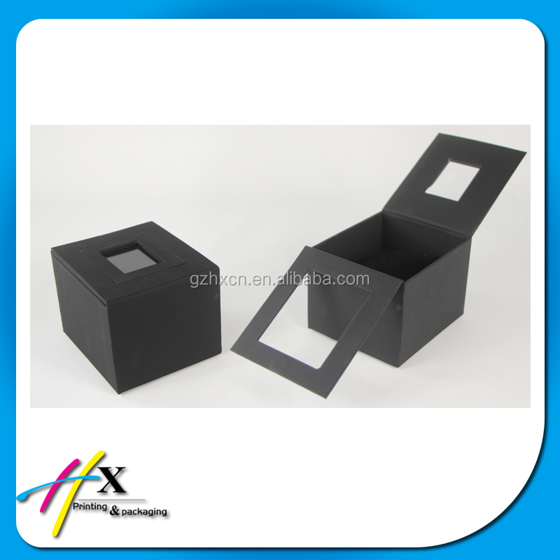 high quality black matte painting wooden single watch box