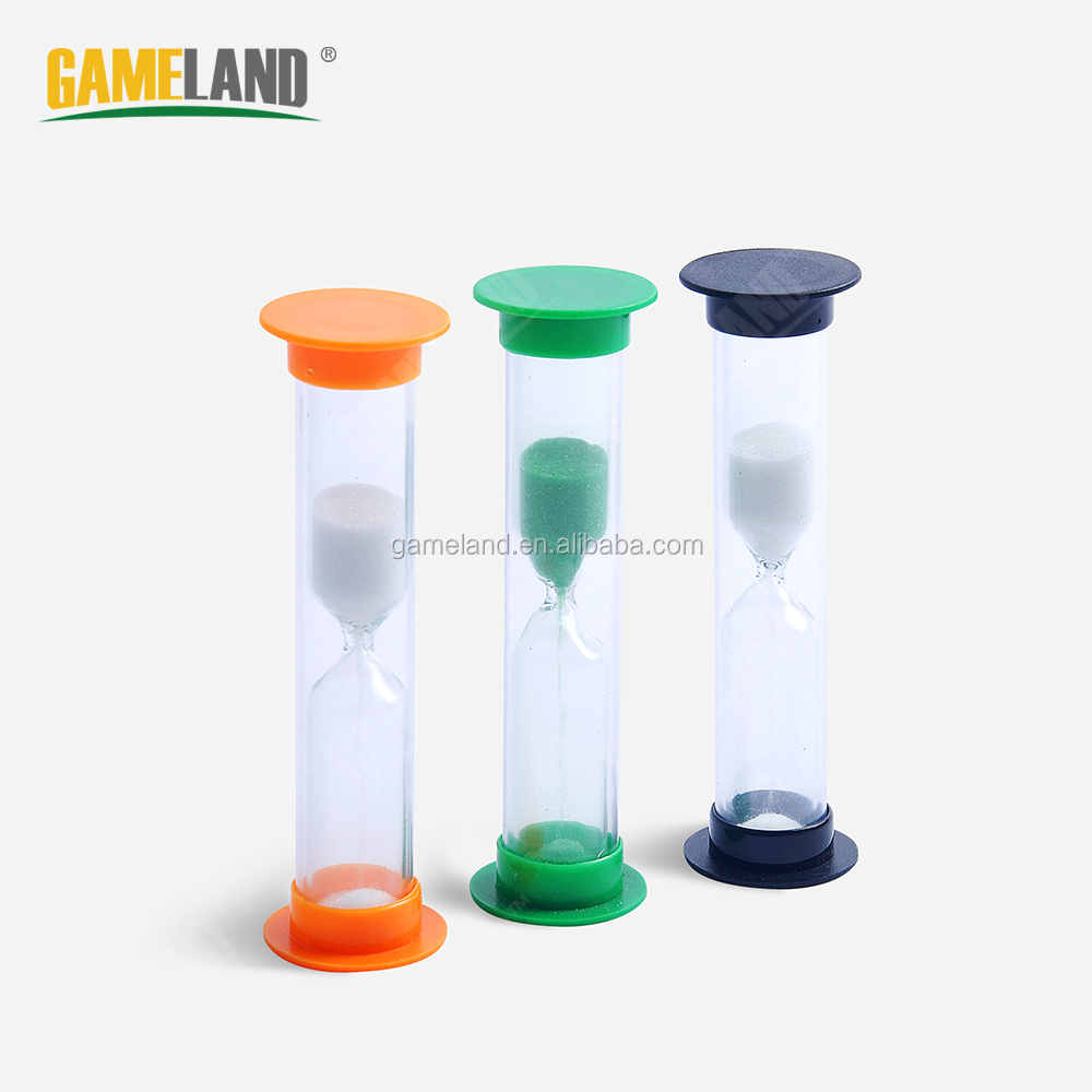 Mini Board Game Sand Timer Hourglasses, Plastic Sand Clock, Countdown Sand Timer