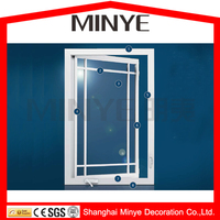new design UPVC casement window with hand crank