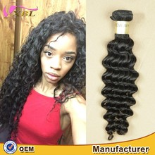 Fashionable deep wave 100 european remy virgin human hair extensions