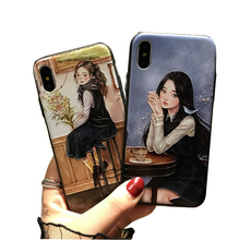 unique girl PC case cover for iphone 7 hard silicon, 3D Sublimation mobile case for Iphone 10