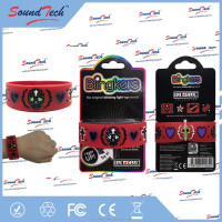 Skull heads pattern fiber optic Light up silicon wristband, silicone bracelet with light