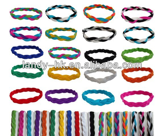 Braided Sport Non Slip Style Sweaty Elastic Thick Hair Bands