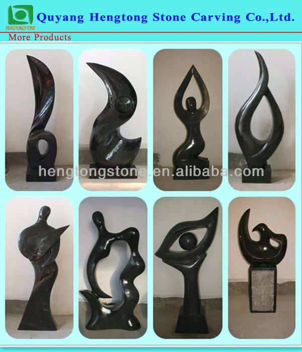 Carved Modern Marble Abstract Garden Sculpture