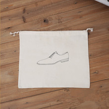 Fashion Small Organic Cotton Custom Drawstring Dust Shoe Bag