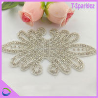 fashion accessories for lady clothing sequin bow applique for dress belt