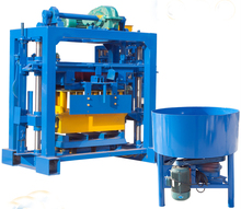 QT40-2 concrete brick raw material manual hollow solid block moulding machine