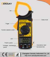 Manual range AC DC cheap digital clamp meter 266