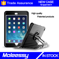 Adjustable stand tablets cover for ipad mini 4 shockproof smart case