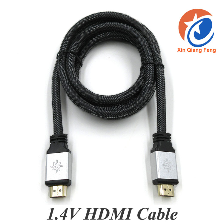 Full HD 4096x2160P bulk 1.8m 24k gold plated braided 1.4V HDMI Cable