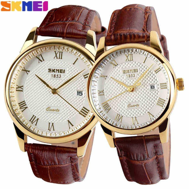 2016 New Women Dress Watches,Watches Men Luxury Brand Fashion& Casual Lover couple Multi-Color Leather strap Relogio Feminino