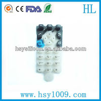 Custom electronic silicone rubber cover remote buttons with screen printing