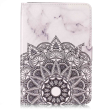 Fashion PU leather case pouch for iPad mini 4, Wallet marble case for iPad mini 123