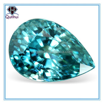 Fabulous Pear shaped Teal Cubic Zirconia Stone