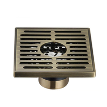 Bathroom Hotel Brass Shower Floor Drain with Removable Strainer