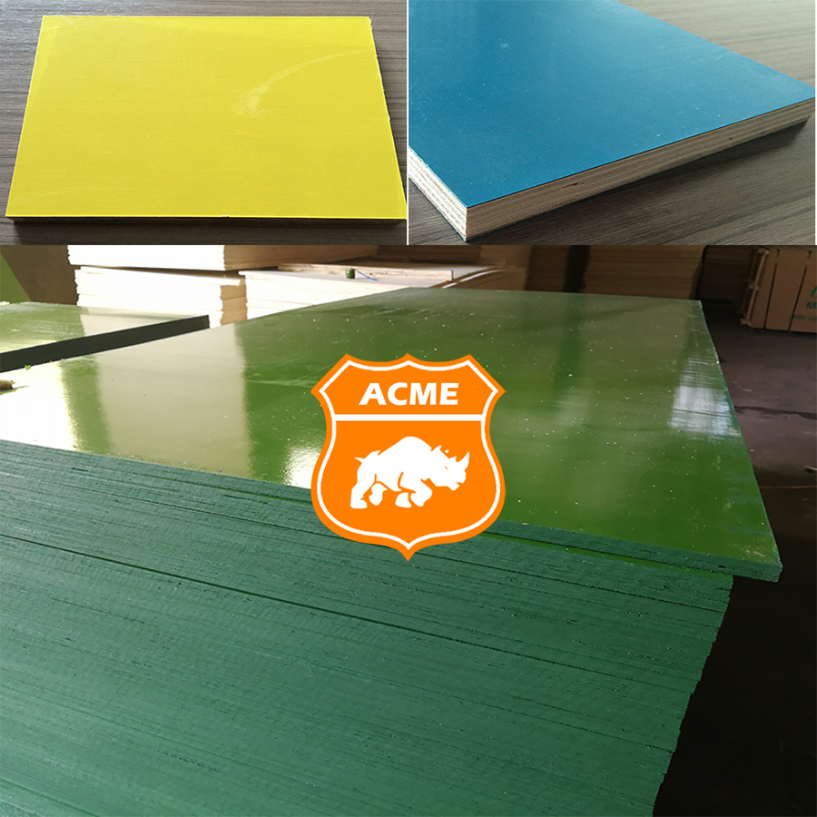 18mm high density building materials plastic film faced plywood
