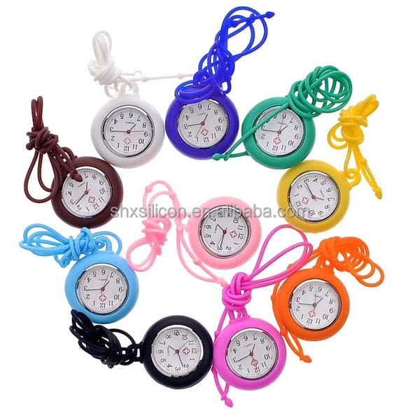Free Samples Stainless Steel Back Custom Silicone Nurse Watch