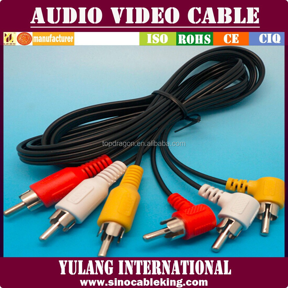 Factory Price l Shape RCA Audio Video Cable On Sale