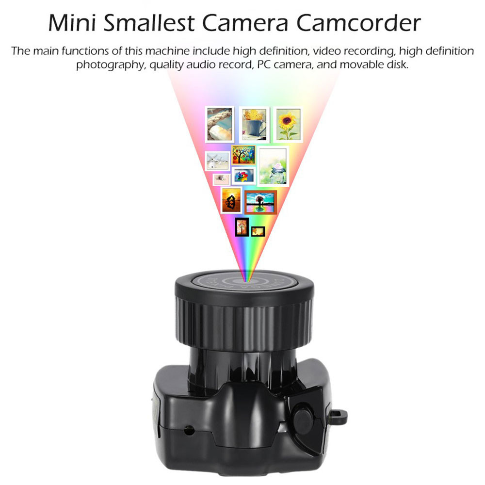 Mini Smallest Camera Camcorder Video Recorder DVR Spy HD Hidden Camera Black