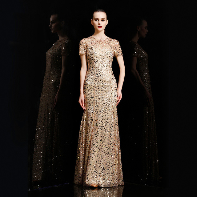 OEM stunning fashionable elegant women party long bridesmaid sequin dresses