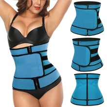 Ecowalson Unisex Abdominal Belt High Compression Zipper Neoprene Waist Cincher Corset Underbust Body Faja Sweat Waist Trainer