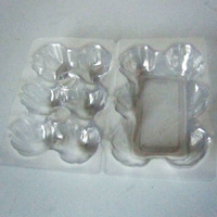 Clear PVC Plastic Clamshell Packaging Box Blister Tray for Eggs