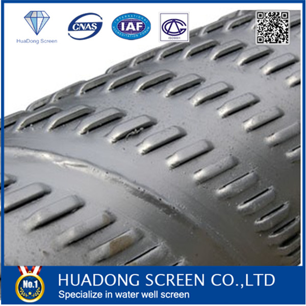 galvanized od 168mm water well bridge slotted pipe <strong>sale</strong> in Mongolia /bridge slot screen / bridge slotted pipe