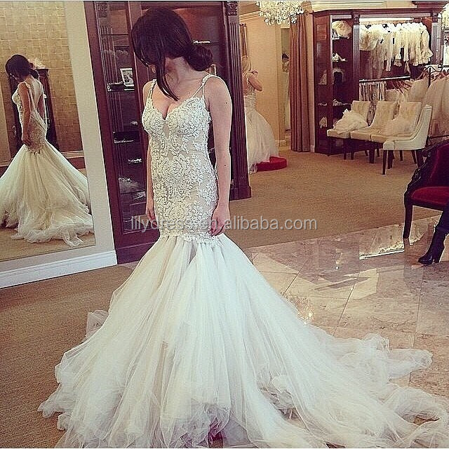 Mermaid Style Lace Designs Backless Floor Length Custom Make Long Formal Bridal Gown CBW081 dropship wedding