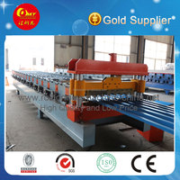 Metal Roof Beam Rolled line , cold Tile Machinery for sale , roofing equip