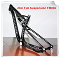 Best selling 165*38 mm full suspension mtb carbon frame 29er mountain bike FM036