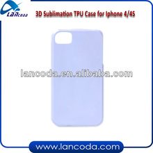 Sublimation 3d tpu case for iphone4/4s
