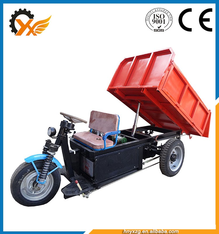Easy handle three wheel electric tricycle/moped cargo tricycle