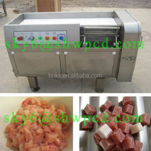 Food plant automatic industrial frozen meat chicken cube cutting machine