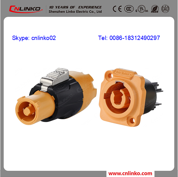 UL,CUL,CE Free Samples 3 Core circle powercon connector For televisions,LED,Machine