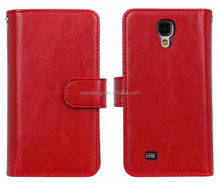 nine card slots leather case for Samsung Galaxy S4, leather cover for Samsung i9500