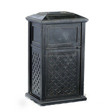 2015 waste bin Specific Use and Outdoor Furniture General Use Garden dustbin hot sale aluminum dustbin garden furniture