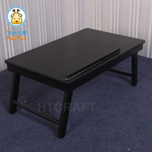 Espresso Folding Laptop Table, Stable PC Table