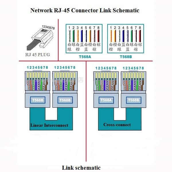 Rj 45 Connectors 8p8c Unshield Modular Plug 6