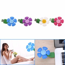 USB Air Humidifier Ultrasonic Aromatherapy Essential Oil Aroma Diffuser Mist Purifier atomizer for Home Mini Flower Shape