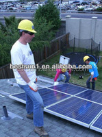 high efficiency solar 3000w solar panel pole mounting system