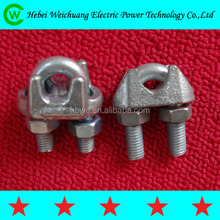 Transmission line fitting Stainless steel Stainless steel guy clip/wire rope clamp