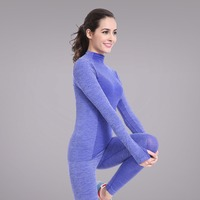 Yoga Fitness Running Stretch Long Sleeve Tops Seamless Girls Gym Wear