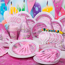 PINK New 90pcs Luxury Kids Birthday Party Decoration Set Decoration Theme Party Supplies Baby Birthday Party Pack