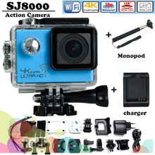4K Action camera SJ8000 Novatek 96660 4K 3840*2160P/24FPS 16MP 170D 30m underwater 3x video full hd sj8000 sport camera