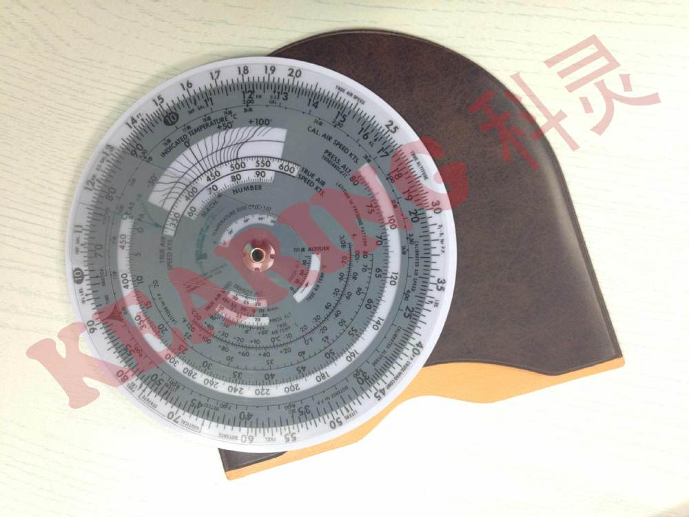 OEM aviation air speed circle calculater, round wheel E6B flight computer, PVC or Lexan Circle around plotter #KCR-3