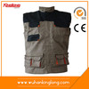 China supplier man vest polycotton canvas work vest