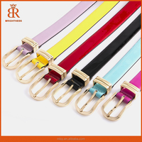 New Fashion Women's leather belts thin belt candy color For Women cintos femininos Wholesale