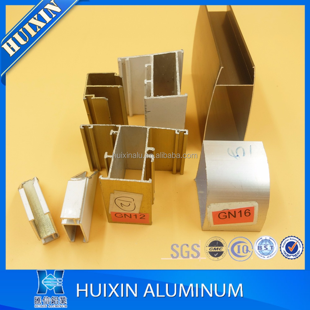 Ghana market wood color window and door extrusion aluminum prices