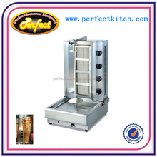 Commercial Gas Doner kebab Machine with 4 burner /automatic kebab grill